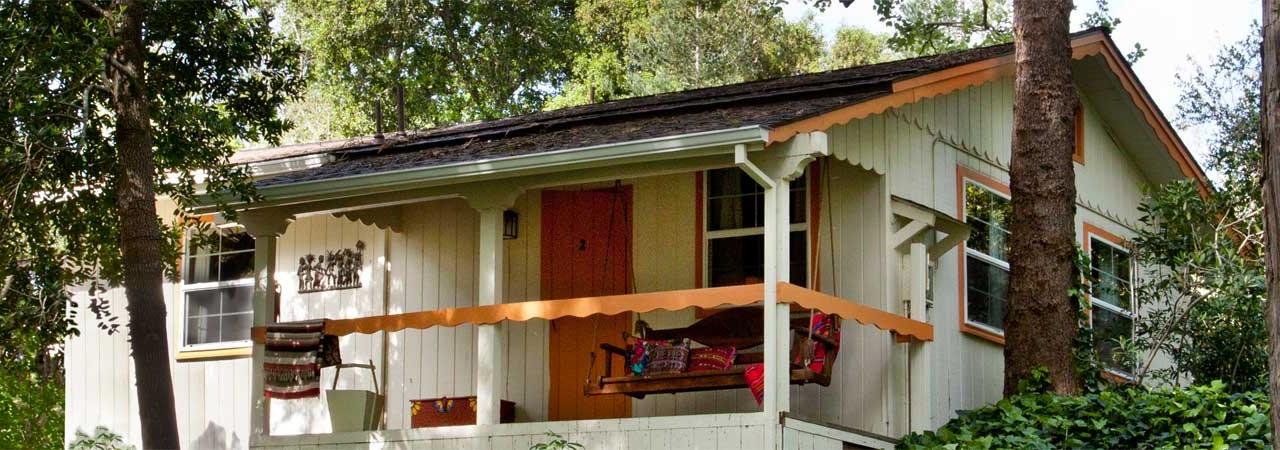 Orange Cabin Exterior